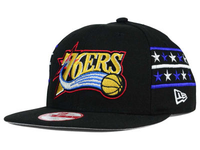 Philadelphia 76ers New Era NBA HWC Fine Side 9FIFTY Snapback Cap