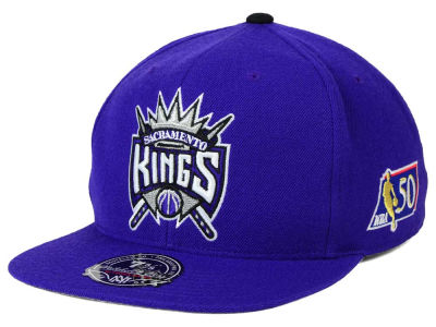 Sacramento Kings Mitchell and Ness NBA 50th High Crown Fitted Cap