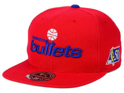 Washington Bullets Mitchell and Ness NBA 50th High Crown Fitted Cap