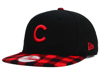 Chicago Cubs New Era MLB Premium Plaid 9FIFTY Snapback Cap
