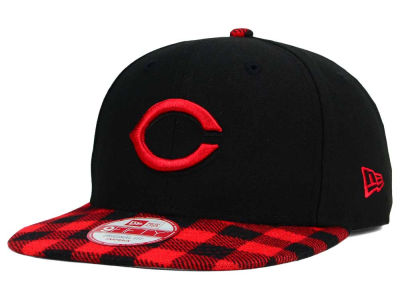 Cincinnati Reds New Era MLB Premium Plaid 9FIFTY Snapback Cap