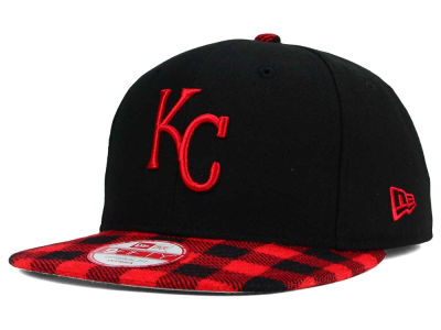 Kansas City Royals New Era MLB Premium Plaid 9FIFTY Snapback Cap