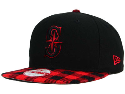 Seattle Mariners New Era MLB Premium Plaid 9FIFTY Snapback Cap