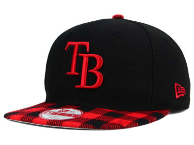 Tampa Bay Rays New Era MLB Premium Plaid 9FIFTY Snapback Cap