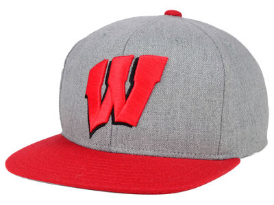 Wisconsin Badgers adidas NCAA Stacked Box Snapback Cap