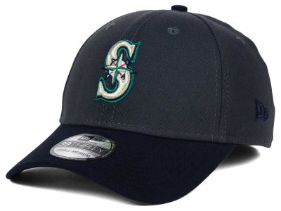 Seattle Mariners New Era MLB Graphite Team Classic 39THIRTY Cap