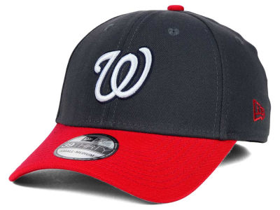 Washington Nationals New Era MLB Graphite Team Classic 39THIRTY Cap