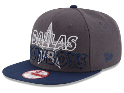 Dallas Cowboys New Era NFL Graph Outline 9FIFTY Snapback Cap
