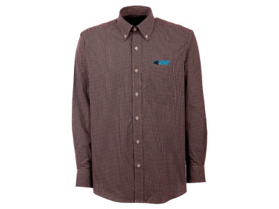 Carolina Panthers Antigua NFL Men's Focus Long Sleeve Button Up Shirt