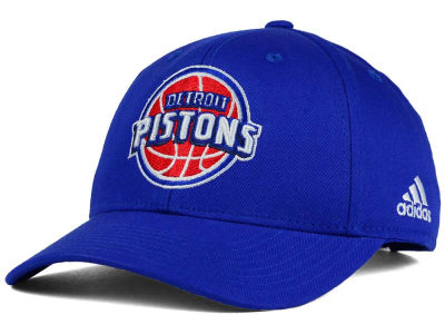 Detroit Pistons adidas NBA Structured Basic Adjustable Cap
