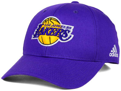 Los Angeles Lakers adidas NBA Structured Basic Adjustable Cap