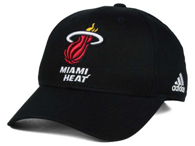 Miami Heat adidas NBA Structured Basic Adjustable Cap