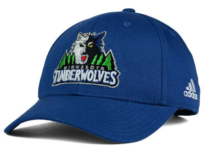 Minnesota Timberwolves adidas NBA Structured Basic Adjustable Cap