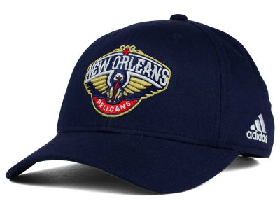 New Orleans Pelicans adidas NBA Structured Basic Adjustable Cap