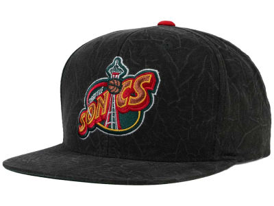 Seattle SuperSonics Mitchell and Ness NBA Color Crease Snapback Cap