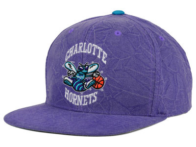 Charlotte Hornets Mitchell and Ness NBA Color Crease Snapback Cap