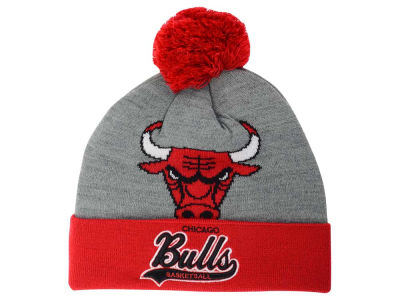 Chicago Bulls Mitchell and Ness NBA Heather Tailsweep Pom Knit