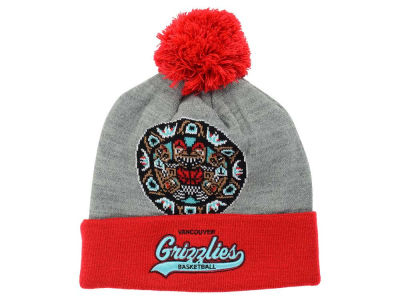 Vancouver Grizzlies Mitchell & Ness NBA Heather Tailsweep Pom Knit