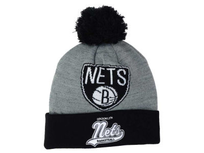 Brooklyn Nets Mitchell and Ness NBA Heather Tailsweep Pom Knit