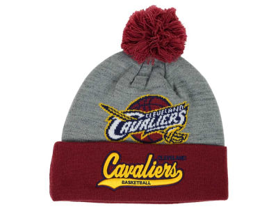 Cleveland Cavaliers Mitchell and Ness NBA Heather Tailsweep Pom Knit