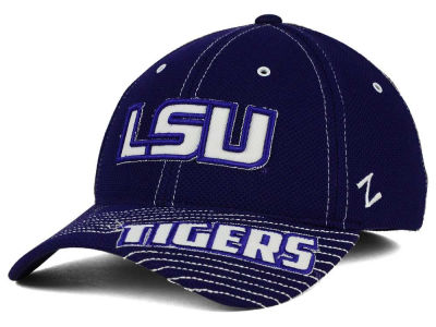 LSU Tigers Zephyr NCAA Slant Team Color Flex Hat