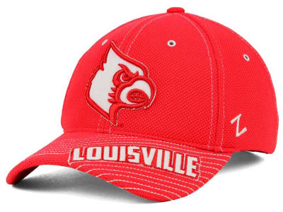 Louisville Cardinals Zephyr NCAA Slant Team Color Flex Hat