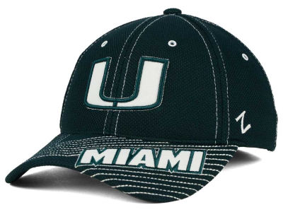 Miami Hurricanes Zephyr NCAA Slant Team Color Flex Hat