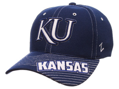 Kansas Jayhawks Zephyr NCAA Slant Team Color Flex Hat