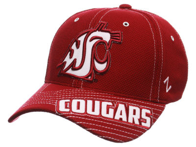 Washington State Cougars Zephyr NCAA Slant Team Color Flex Hat