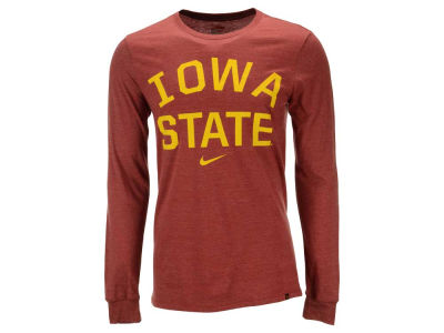 Iowa State Cyclones Nike NCAA Men's Triblend Conviction Long Sleeve T-Shirt