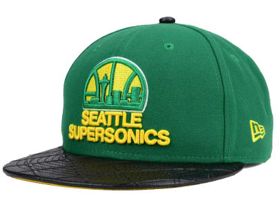 Seattle SuperSonics New Era NBA HWC Visor Cross 9FIFTY Snapback Cap