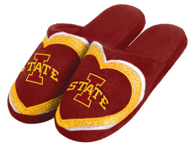 Iowa State Cyclones Love Glitter Ladies Slide Slipper