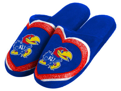 Kansas Jayhawks Love Glitter Ladies Slide Slipper