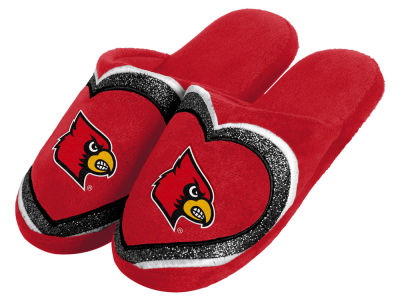 Louisville Cardinals Love Glitter Ladies Slide Slipper