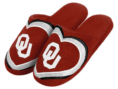 Oklahoma Sooners Love Glitter Ladies Slide Slipper