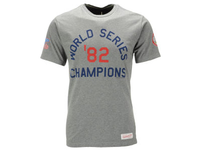 St. Louis Cardinals Mitchell and Ness MLB Men's World Series Champ History T-Shirt