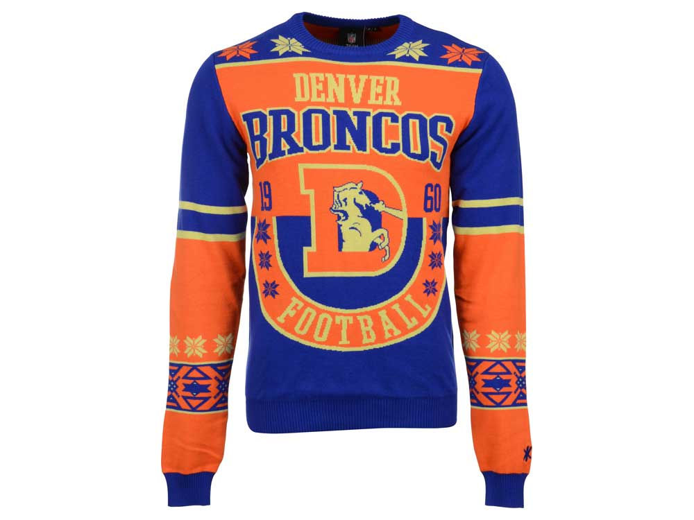 Denver Broncos La Tilda Nfl Mens Retro Ugly Sweater Lidscom