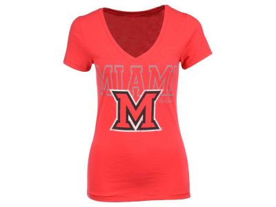 Miami (Ohio) Redhawks NCAA Womens Emma Vneck T-Shirt