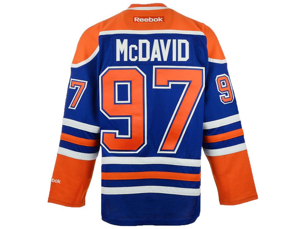 Edmonton Oilers Connor McDavid Reebok NHL CN PT Premier Player Jersey  40fb35642