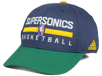 Seattle SuperSonics adidas NBA 2015 Practice Flex Cap