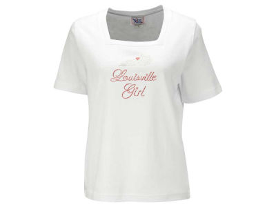 Louisville Cardinals NCAA Women's Missy Square Neck T-Shirt