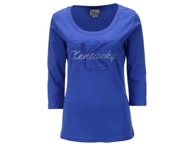 Kentucky Wildcats NCAA Women's Missy Jewel Neck 3/4 Sleeve T-Shirt