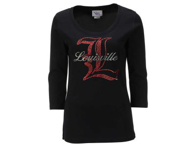 Louisville Cardinals NCAA Women's Missy Jewel Neck 3/4 Sleeve T-Shirt