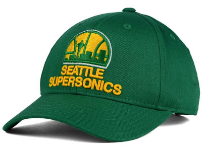 Seattle SuperSonics adidas NBA Structured Basic Adjustable Cap