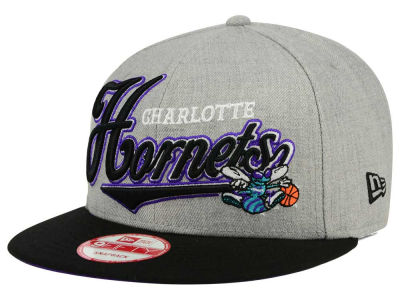 Charlotte Hornets New Era NBA HWC Big Heather 9FIFTY Snapback Cap