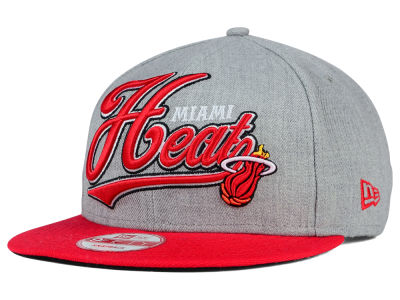 Miami Heat New Era NBA HWC Big Heather 9FIFTY Snapback Cap
