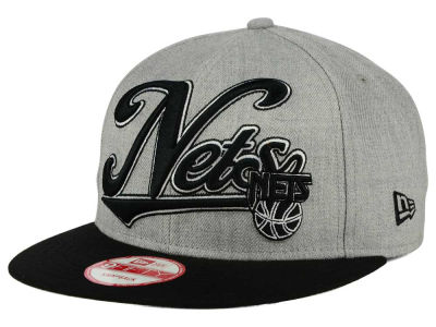 New Jersey Nets New Era NBA HWC Big Heather 9FIFTY Snapback Cap
