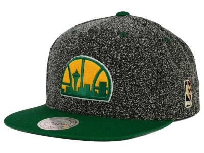 Seattle SuperSonics Mitchell and Ness NBA Static Team Logo Snapback Cap