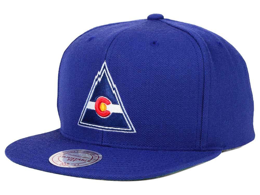 b6349f8ab3d Colorado Rockies Mitchell   Ness NHL Wool Solid Snapback Cap