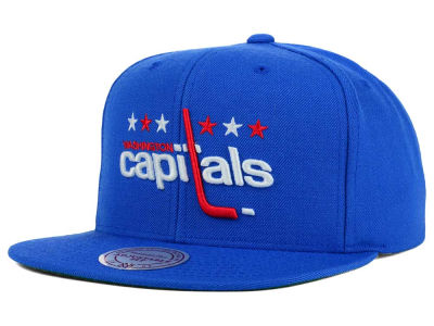 Washington Capitals Mitchell and Ness NHL Wool Solid Snapback Cap